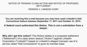 A screenshot of the email that LinkedIn sent out to all of its users on Friday evening